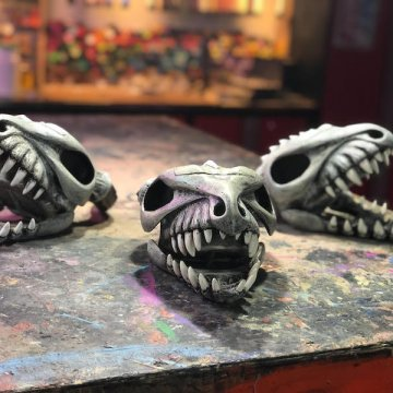 Triple Dragon Skull